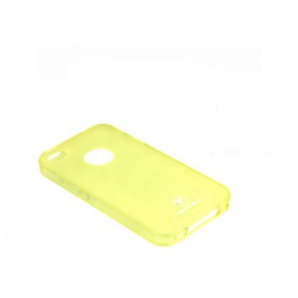 Futrola silikon Teracell Giulietta za iPhone 4/4S, žuta