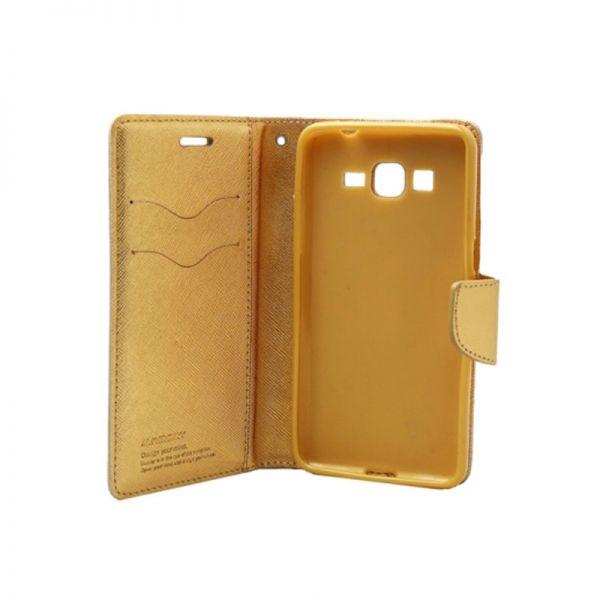 Futrola na preklop Mercury za Samsung G530 Grand Prime, zlatna