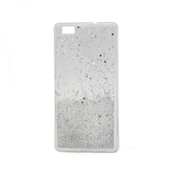 Futrola silikon Leaves ombre za Huawei P8 lite, bela