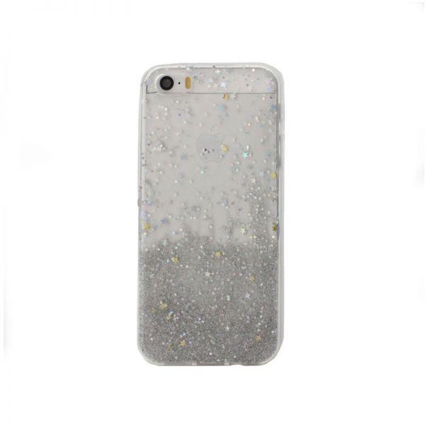 Futrola silikon Leaves ombre za iPhone 5/5S/SE, bela