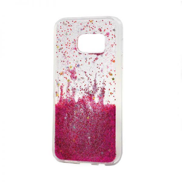 Futrola silikon Leaves ombre za Samsung G930 S7, pink