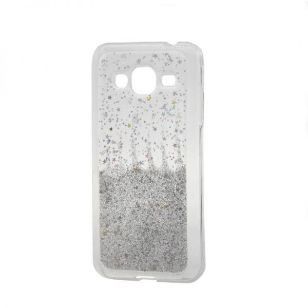Futrola silikon Leaves ombre za Samsung J320 J3 2016, bela