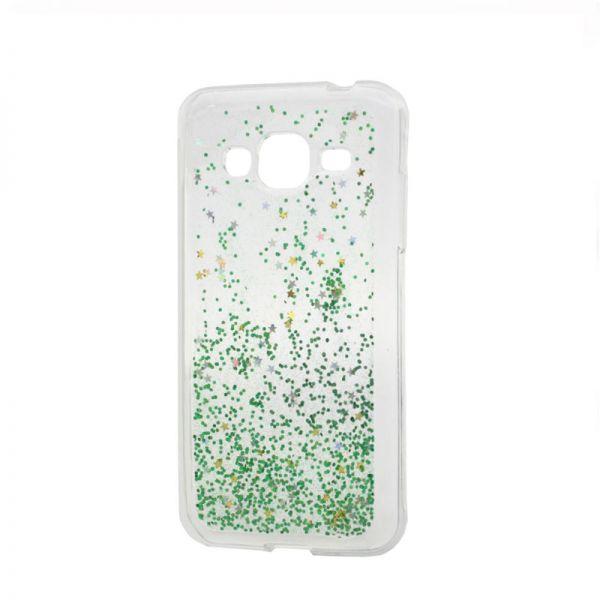 Futrola silikon Leaves ombre za Samsung J320 J3 2016, zelena