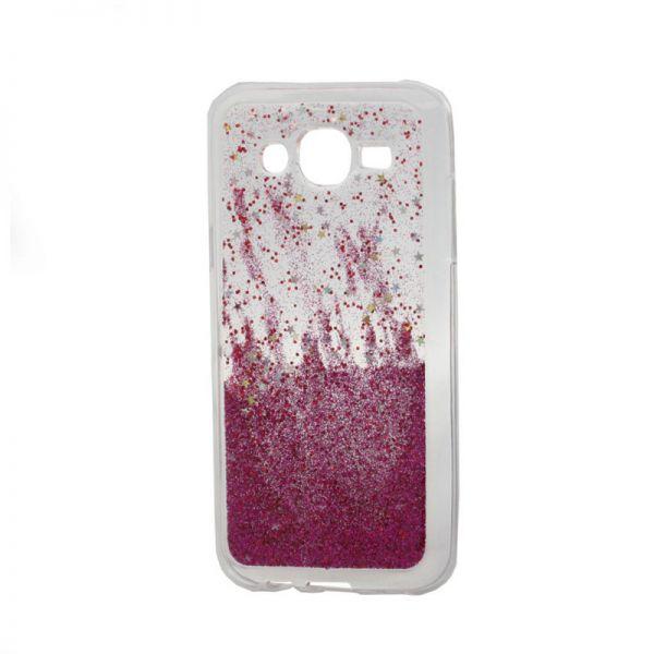 Futrola silikon Leaves ombre za Samsung J500 J5, pink