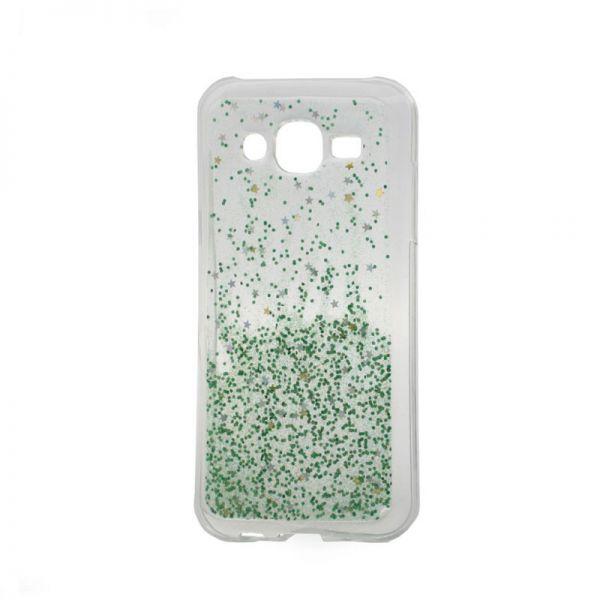 Futrola silikon Leaves ombre za Samsung J500 J5, zelena