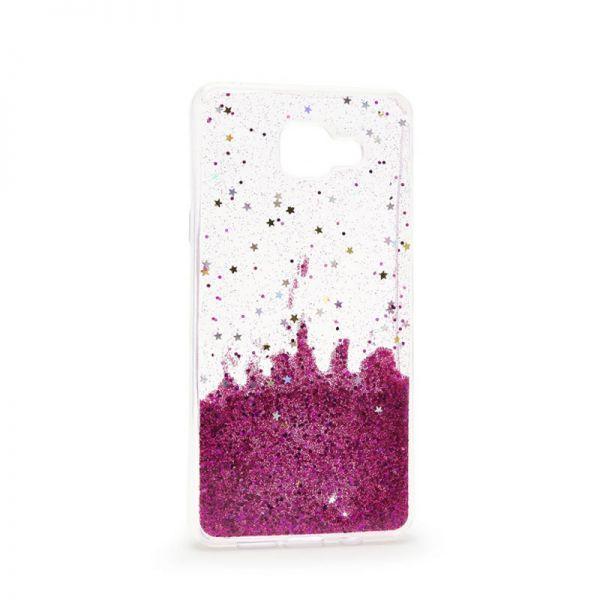 Futrola silikon Leaves ombre za Samsung J510 J5 2016, pink