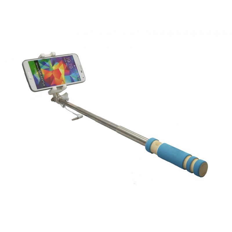 Štap za selfie mini 3.5mm, plavi