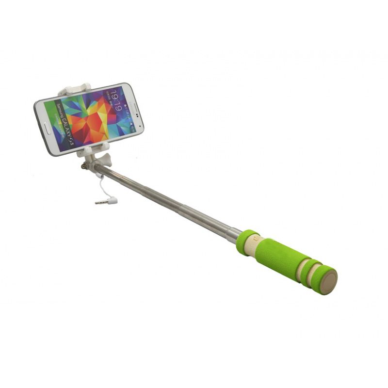 Štap za selfie mini 3.5mm, zeleni
