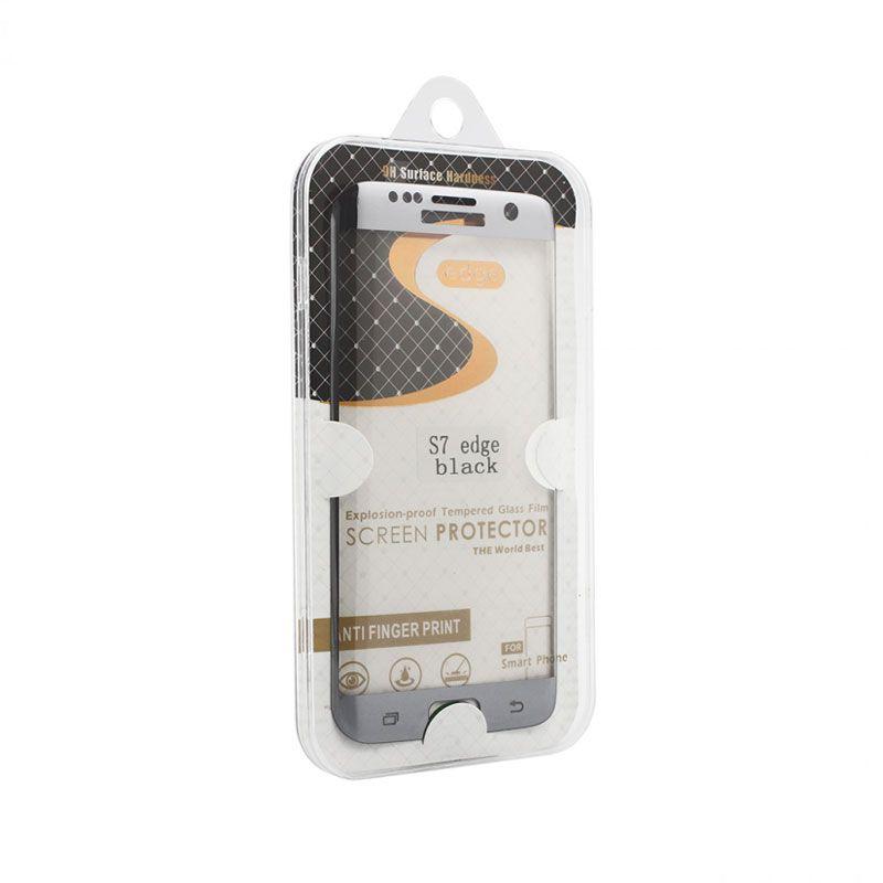 Staklo folija za Samsung G935 S7 Edge, zakrivljena crna