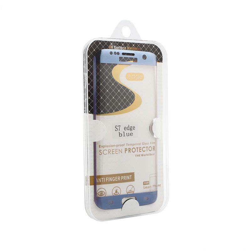 Staklo folija za Samsung G935 S7 Edge, zakrivljena plava
