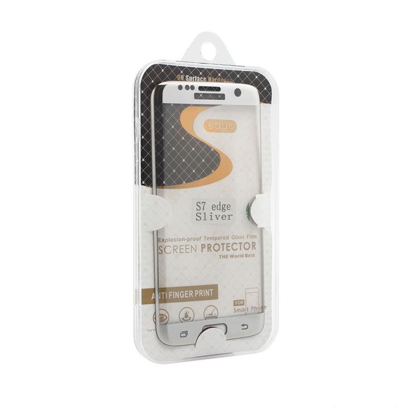 Staklo folija za Samsung G935 S7 Edge, zakrivljena srebrna