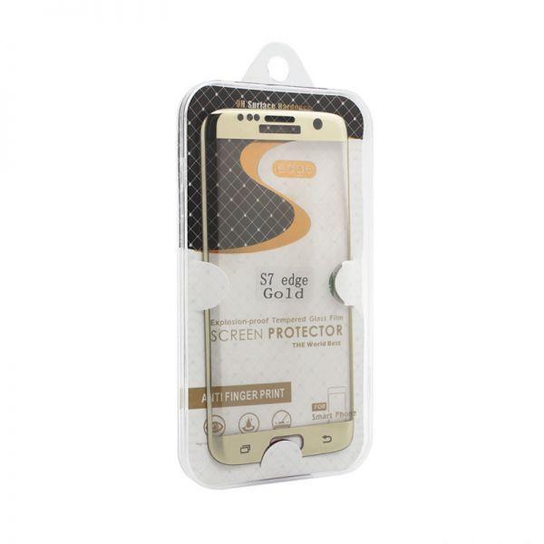 Staklo folija za Samsung G935 S7 Edge, zakrivljena zlatna