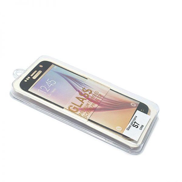 Staklo folija za Samsung G930 S7, zakrivljena crna