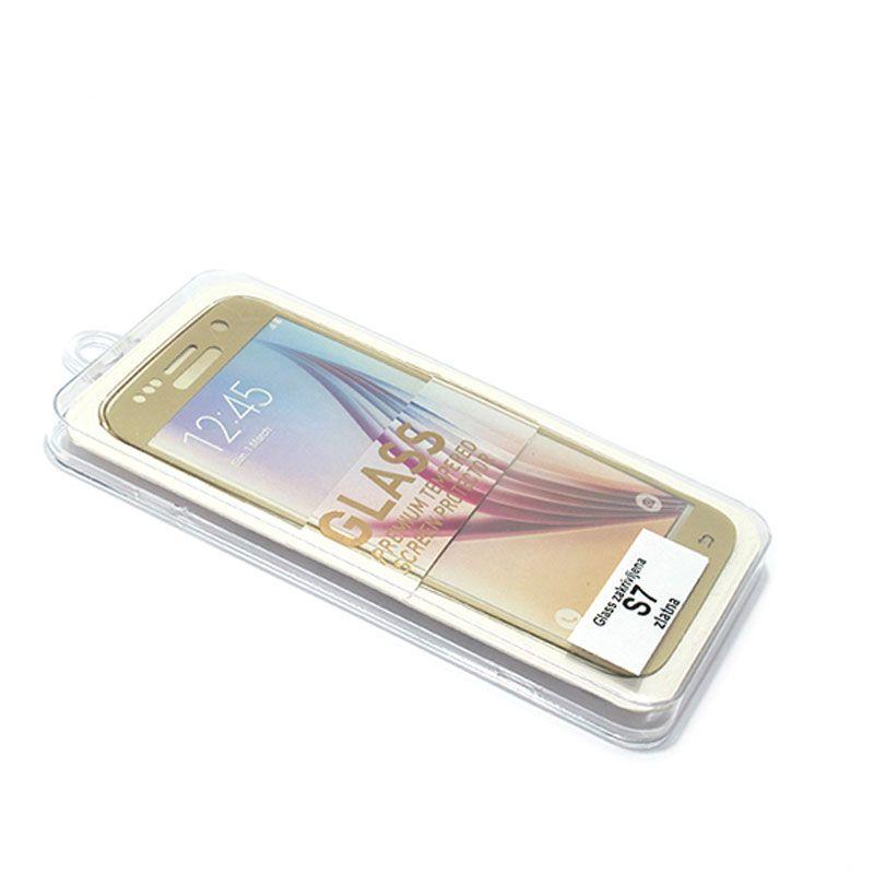 Staklo folija za Samsung G930 S7, zakrivljena zlatna