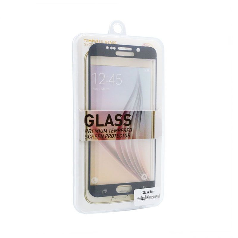 Staklo folija za Samsung G928 S6 Edge plus, zakrivljena plava