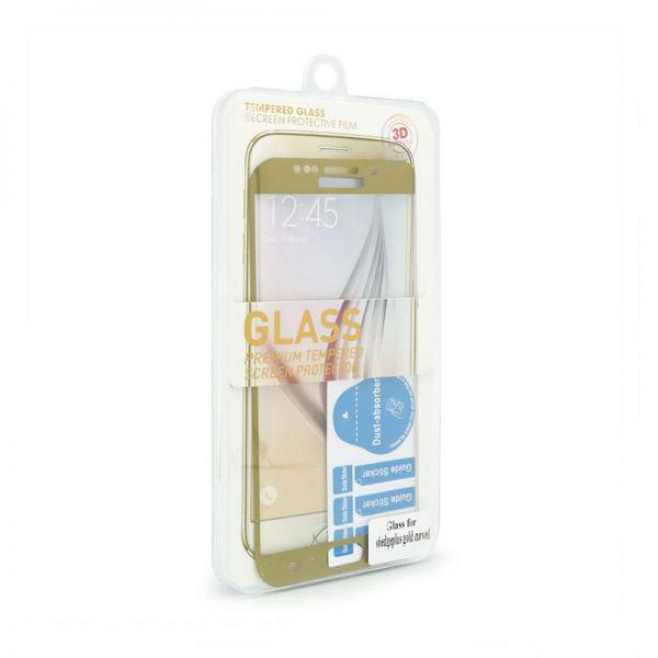 Staklo folija za Samsung G928 S6 Edge plus, zakrivljena zlatna