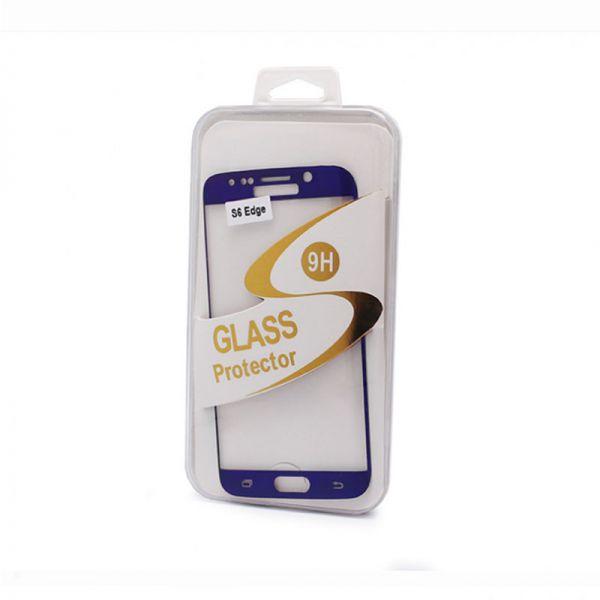 Staklo folija za Samsung G925 S6 Edge, zakrivljena plava
