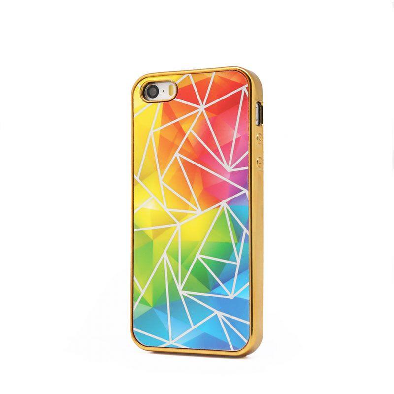 Futrola silikonska Akvarel za iPhone 5/5S/SE, zlatna