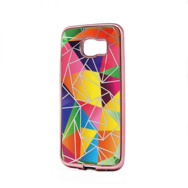 Futrola silikonska Akvarel za Samsung G925 S6 edge, pink