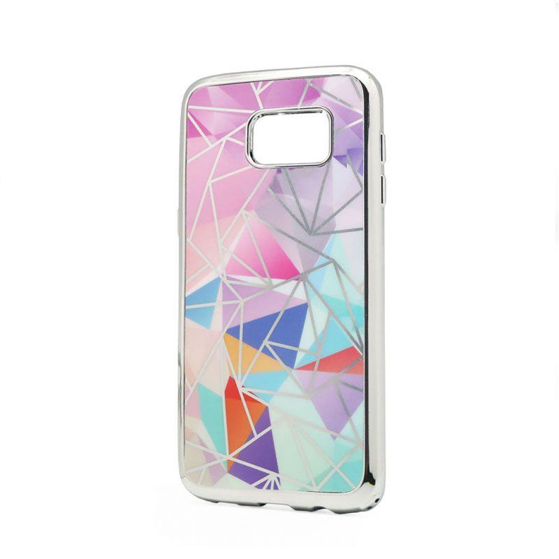 Futrola silikonska Akvarel za Samsung G930 S7, srebrna