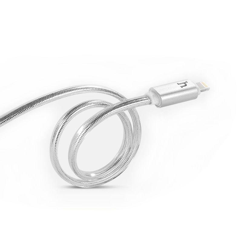 Hoco UPL12 Kabal metalni za iPhone 5/5s/5c/SE/6/6s/6Plus/6sPlus 120cm, srebrni