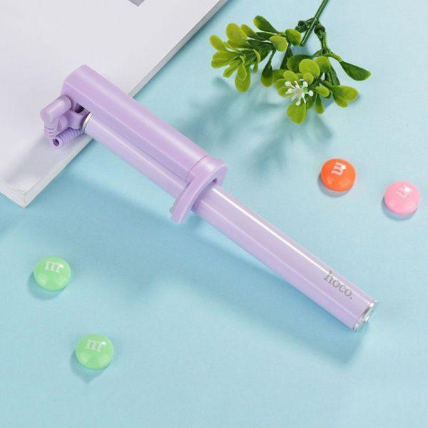 Selfie štap K5 Neoteric 3.5mm wired, purple