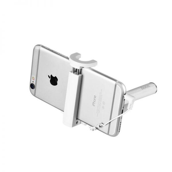 Selfie štap K5 Neoteric 3.5mm wired beli