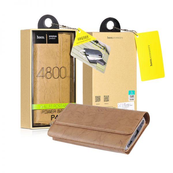 P4-4800 wallet-type eksterna baterija 4800mah bež