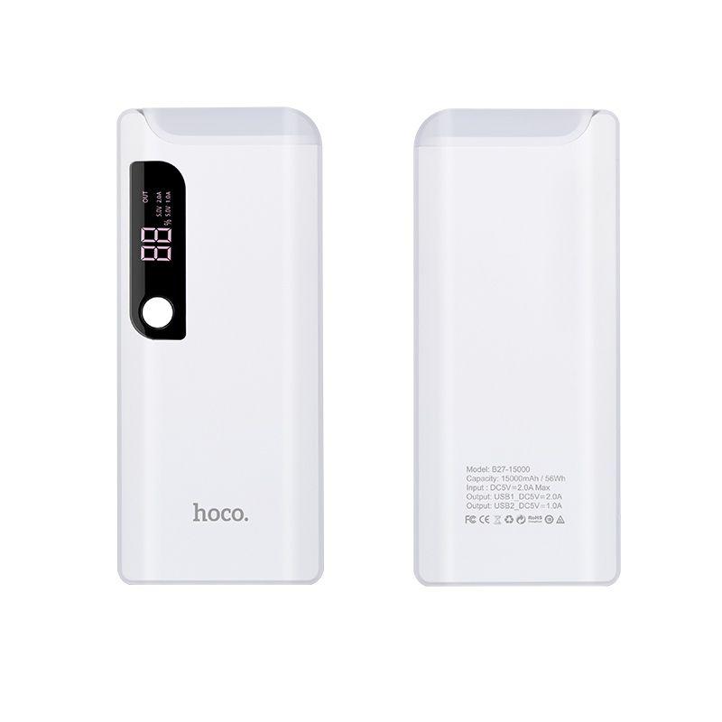 B27-15000 Pusi mobile eksterna baterija 15000mAh sa lampom bela