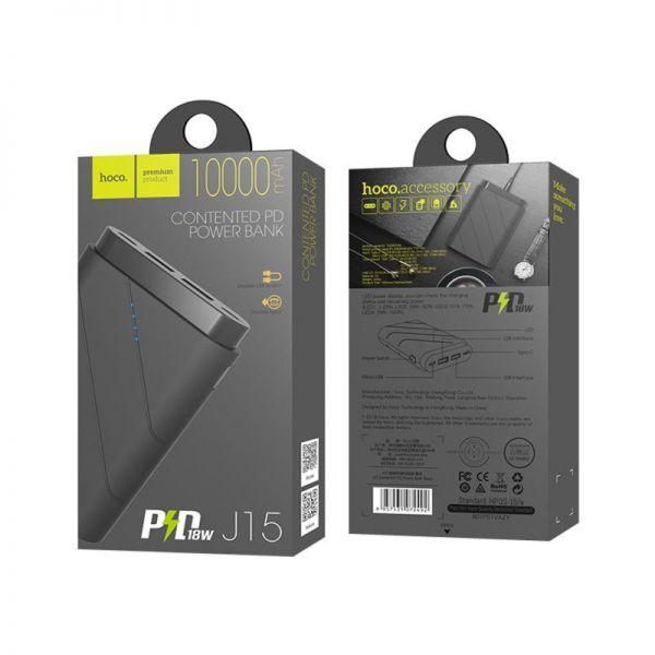 J15 Contented PD QC3.0 eksterna baterija 10000mAh