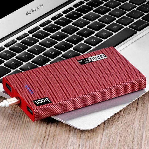 B12A Carbon fiber pattern eksterna baterija 13000mAh crveno vino