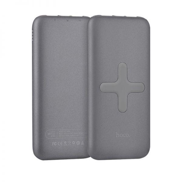 B11 Qi wireless bežična eksterna baterija 8000mAh siva