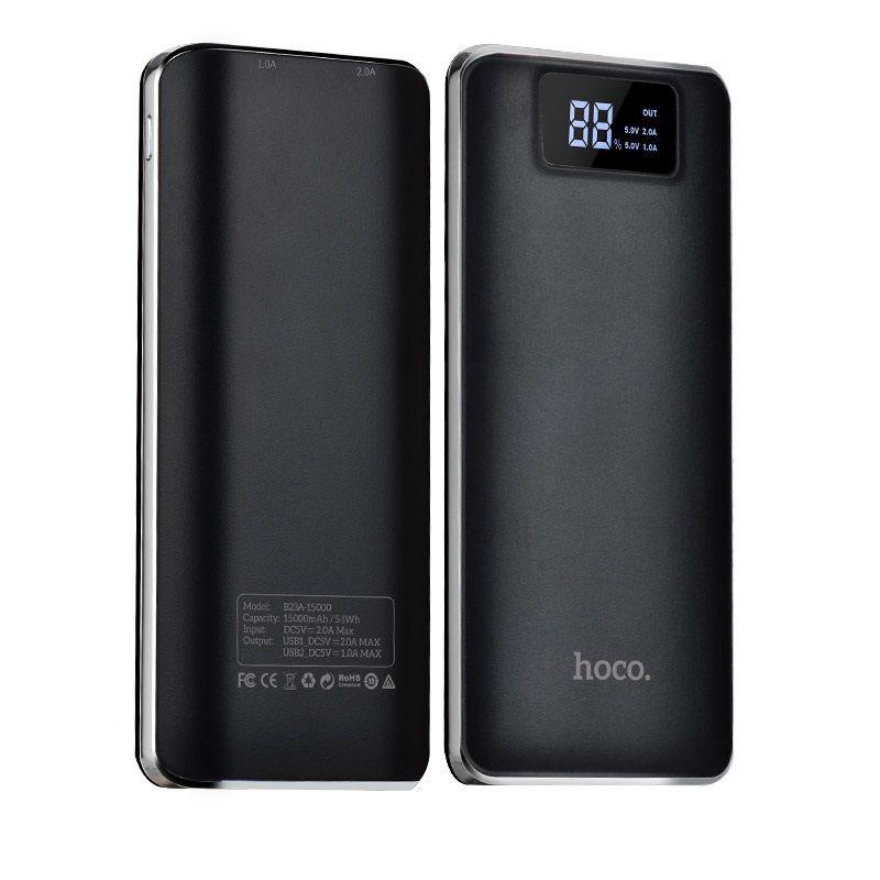 B23A Flowed eksterna baterija 15000mAh crna