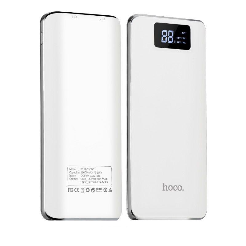 B23A Flowed eksterna baterija 15000mAh bela