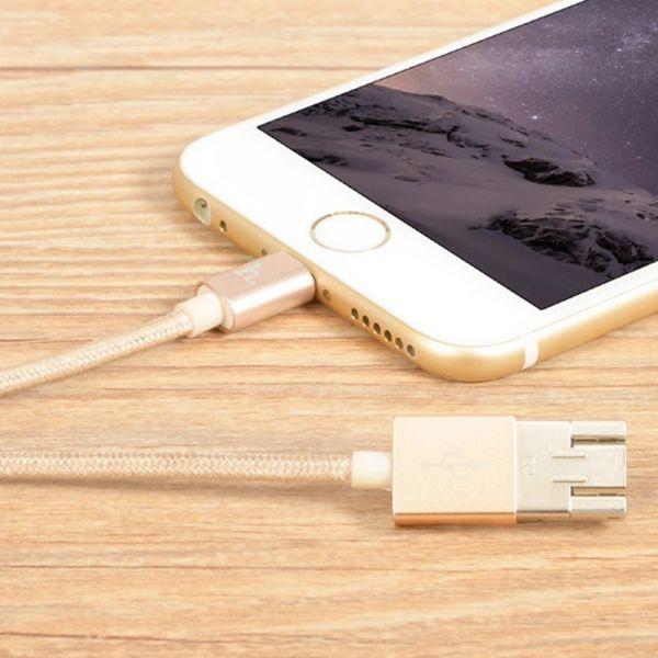 Hoco UPL16 USB kabal za brzo punjenje iPhone 5/5s/5c/SE/6/6s/6Plus/6sPlus, zlatni