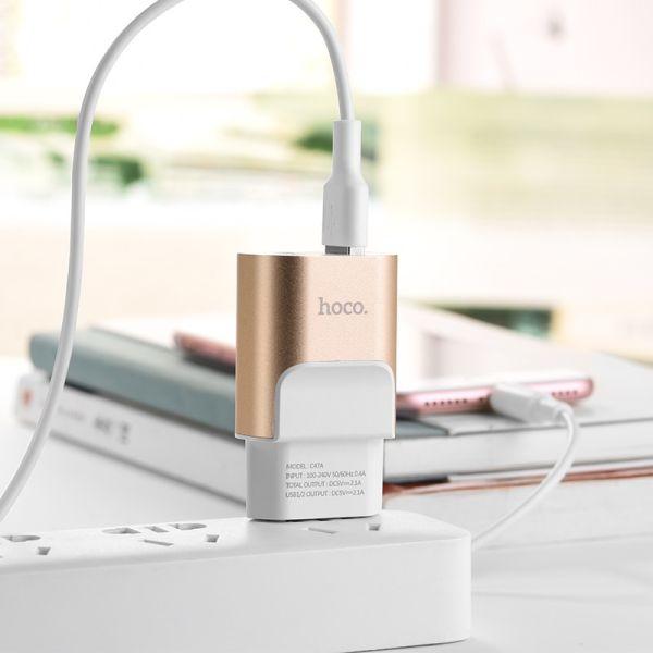 Hoco C47A Metal dual USB kućni punjač 2,1A zlatni