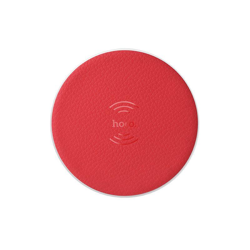Hoco CW14 Round bežični punjač crveni