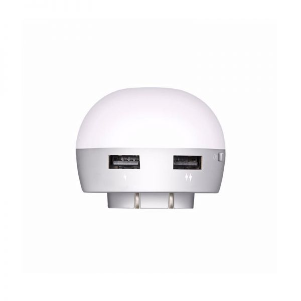 Hoco H1 Mini noćna lampa Double USB Smart punjač