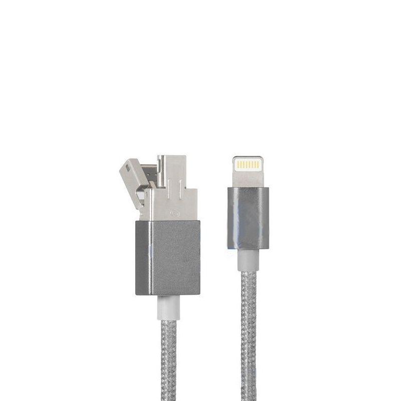 Hoco UPL16 USB kabal za brzo punjenje iPhone 5/5s/5c/SE/6/6s/6Plus/6sPlus, sivi
