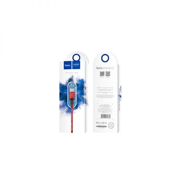 Hoco X14 Times speed type-c USB kabl crveni