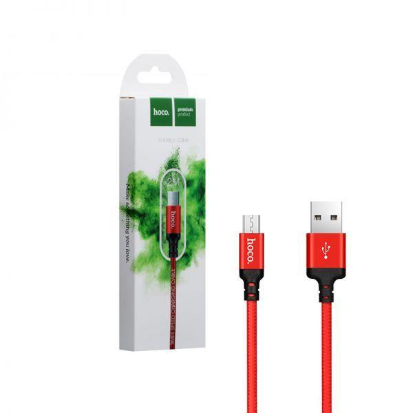 Hoco X14 Times speed micro USB kabl 2m crveni