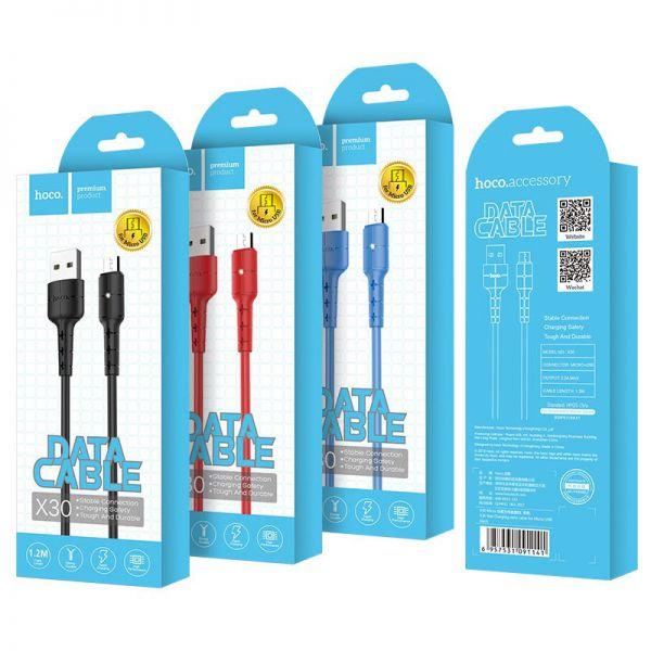 Hoco X30 Star micro USB kabl plavi