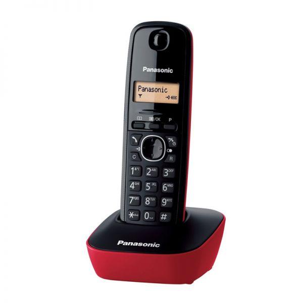 Bežični telefon Panasonic DECT KX-TG1611, crveni