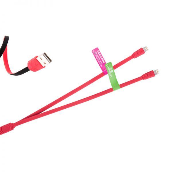 Hoco UPL10 USB Kabal sa dva priključka za iPhone 5/5s/5c/SE/6/6s/6Plus/6sPlus, crveni