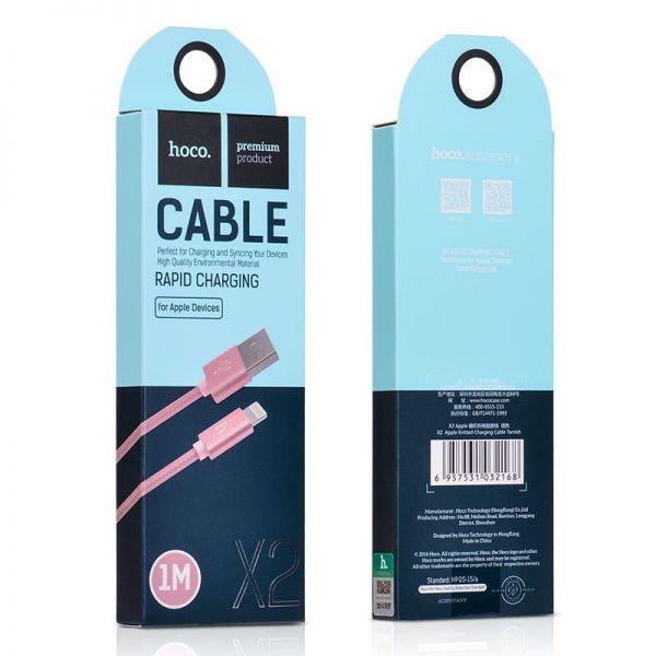 Hoco X2 Rapid charging lighting USB kabl pink