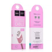 Hoco X3 Rapid Charging kabl 2u1 Micro/iPhone 5/6 pink