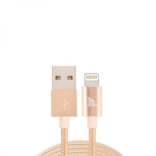 Hoco UPL05 Usb kabal metal pleteni za Iphone 5/5s/5c/SE/6/6s/6Plus/6sPlus, zlatni
