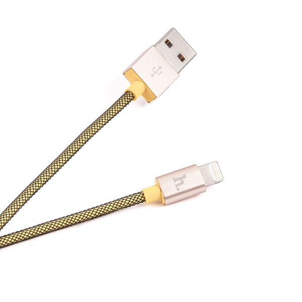 Hoco UPL09 Metal USB kabal za iPhone 5/5s/5c/SE/6/6s/6Plus/6sPlus, žuti