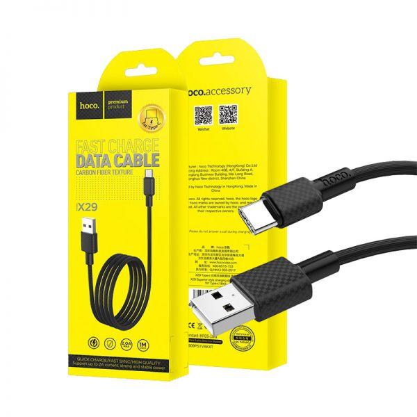 Hoco X29 Superior style type-c USB kabl crni
