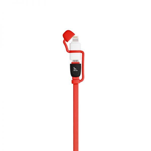 Hoco UPL21 Kabal 2u1 iPhone/Micro 120cm, crveni